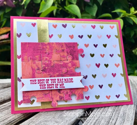 Stampin Up Love you to Pieces Well Said GDP182 Love card Michelle Gleeson Stampinup SU