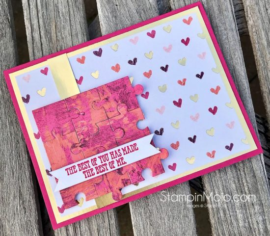 Stampin Up Love you to Pieces Well Said GDP182 Love card idea Michelle Gleeson Stampinup SU