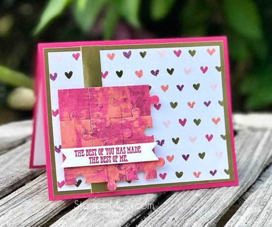 Stampin Up Love you to Pieces Well Said GDP182 Love card ideas Michelle Gleeson Stampinup SU