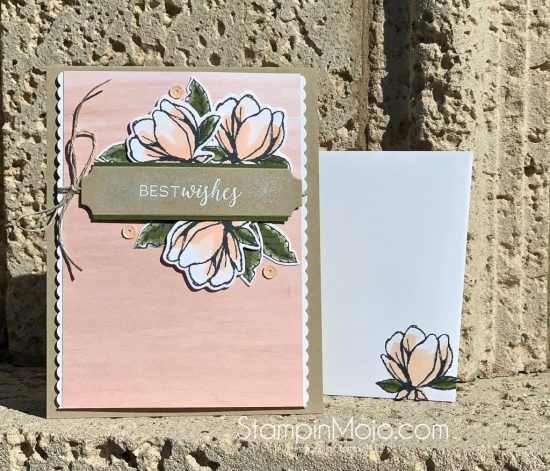 Stampin Up Good Morning Magnolia Floral Essence DSP Birthday Card Idea Michelle Gleeson Stampinup SU
