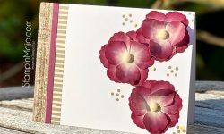 Stampin up Floral Essence Washi Tape Anytime card idea Michelle Gleeson Stamping SU
