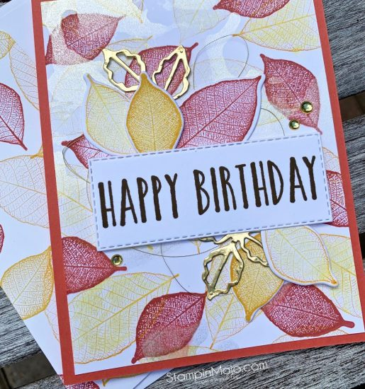 Stampin Up Rooted in Nature Bundle Perennial Birthday Birthday Card Idea Michelle Gleeson Stampinup SU