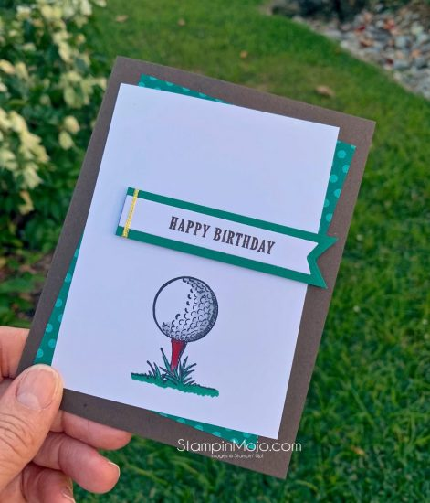 Stampin up Clubhouse GDP#221 Color Challenge Masculine birhtday card idea Michelle Gleeson Stampinup SU