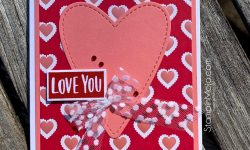 Stampin' Up From My Heart DSP SSS Love & Valentines Love Card Idea Michelle Gleeson SU