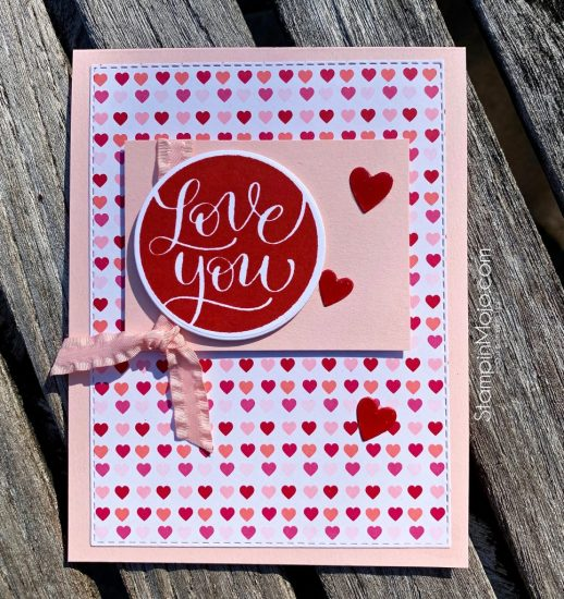 Stampin' Up From My Heart DSP SSS Love & Valentines Love Card Ideas Michelle Gleeson SU