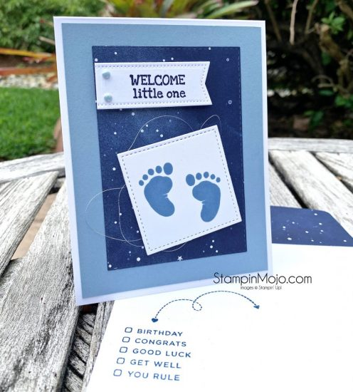 Stampin Up First Steps Twinkle Twinkle DSP Baby Card Ideas Michelle Gleeson Stampinup SU