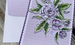 The Greetery Sketched Roses Anytime Card Michelle Gleeson
