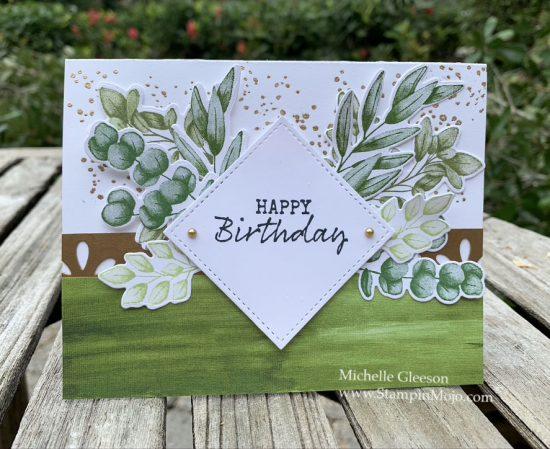 Stampin Up Forever Ferns Birthday Card Idea Michelle Gleeson Stampinup SU