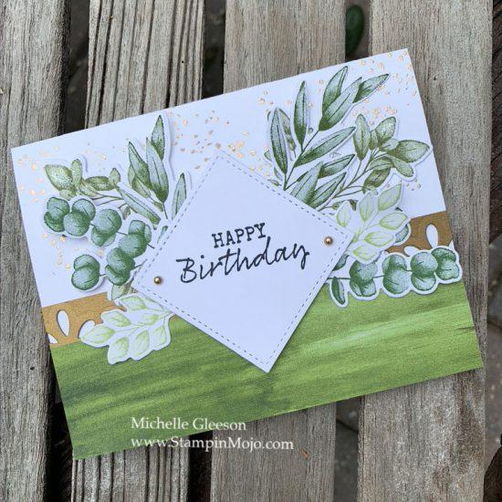 Stampin Up Forever Ferns Birthday Card Michelle Gleeson Stampinup SU