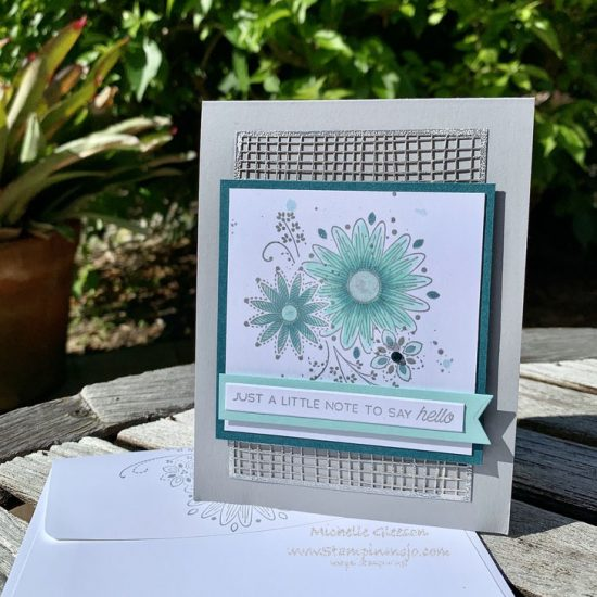 Stampin Up A Little Lace Just Add Ink #514 Anytime Card Ideas Michelle Gleeson Stampinup SU
