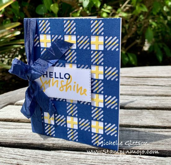 Stampin Up Best Plaid Builder C9 Dahlia Anytime Cards Idea Michelle Gleeson Stampinup SU
