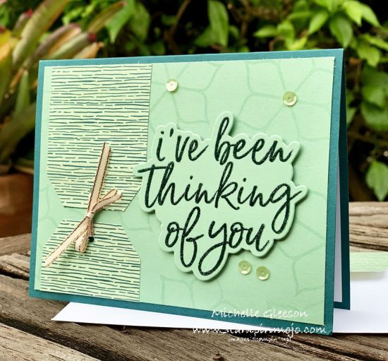 Stampin up Forever Greenery DSP Eastern Beauty C9 Simply Said Thinking of you card Idea The Spot Challenge #118 TGIFC#272 Michelle Gleeson Stampinup SU