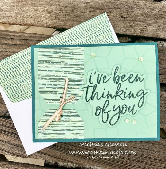 Stampin up Forever Greenery DSP Eastern Beauty C9 Simply Said Thinking of you card Ideas The Spot Challenge #118 TGIFC#272 Michelle Gleeson Stampinup SU