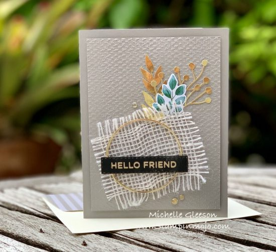 Stampinup Forever Greenery Suite #PPC384 Hot Foil Sentiment Anytime Card Idea Michelle Gleeson Stampinup SU