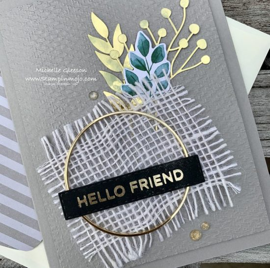 Stampinup Forever Greenery Suite #PPC384 Hot Foil Sentiment Anytime Card Ideas Michelle Gleeson Stampinup SU