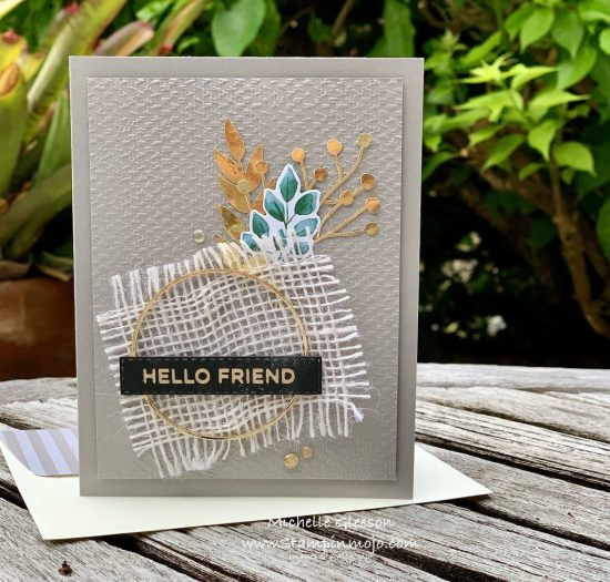 Stampinup Forever Greenery Suite #PPC384 Hot Foil Sentiment Anytime Cards Idea Michelle Gleeson Stampinup SU