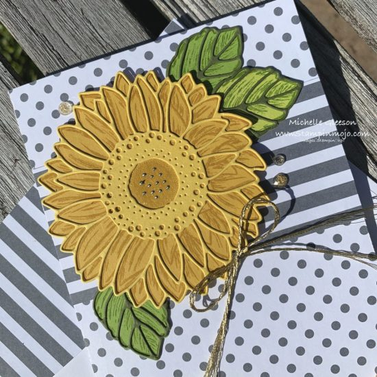 Stampin Up Celebrate Sunflowers Bundle Embellishments Anytime card ideas Michelle Gleeson Stampinup SU